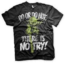 Offiziell Lizenziert Star Wars-There is no Try-Yoda 3XL, 4XL, 5XL Herren T-Shirt