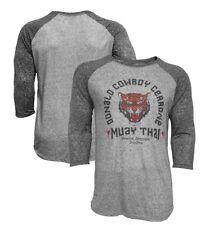 "Donald ""Cowboy"" Cerrone Muay Thai Tiger Raglan T-Shirt UFC Fighting"