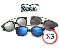 TRIS X3 Occhiali da Sole iFrames GINEVRE a Specchio Gradient Vintage Donna/Uomo