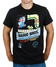 Nintendo Mario Brothers 8 Bit Black T-Shirt Anime Licensed NEW