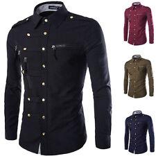 Vintage Herren Hemd Herrenhemd Kurzarmhemd Diensthemd Military Dress Shirt Tops