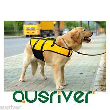 Medium Large Dog Pet Useful Life Jacket Swim Safe Clothes Apparel Costumes S-7XL