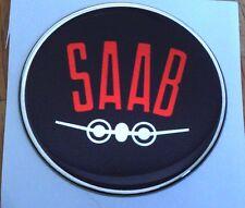 "2.5"" SAAB Black and red Vintage Hood or Trunk Emblem sonett 96 9-3 95 9-5 9-2X"
