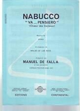 partition MANUEL DE FALLA nabucco