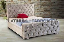 iBEX Chenille fabric / Velvet Velvet Upholstered Bed frame , MADE IN UK