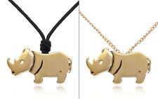 Lovely Rhino Handmade Brass Necklace Pendant Jewelry
