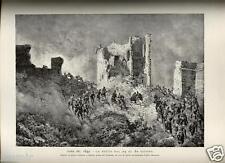 1884= RISORGIMENTO= BATTAGLIA DI ROMA 1849 = Rara Stampa Antica