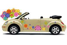 Hippie Flower Car Sticker Flower Sticker Flower Power: Hippie Flower Set 024