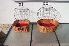 Hundekorb Hundefahrradkorb mit Gitter und Kissen Lenkerkorb Einkaufskorb Weide