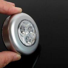 Mini 3LEDs Push Light Battery-operated Stick Click Touch Lamp Night Light UK