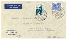 NEDERLAND AIRMAIL 1938-7-15  URUGUAY ( TR CT 92½ )  BUSINES  CV  F/VF