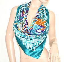 FOULARD donna raso quadrato fantasia coprispalle colorato bufanda mujer scarf 47
