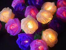 Rosa lucine,20 set,fatto a mano fiori Matrimonio,Natale VENDITORE UK SICUREZZA