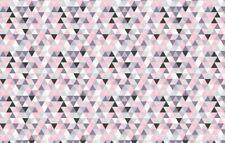 Triangle pink grey black 100% Cotton Printed Fabric,Per meter, width 160 cm
