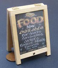 Menu alimentari Pubblicità Board DOLLS HOUSE miniatura PUB-CAFE (Sandwich Board)