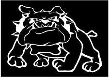 WHITE Vinyl Decal  Bulldog dog  marines puppy fun sticker tough truck