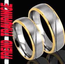 2 Partner Ringe Trauringe GOLD Platiert & Gratis GRAVUR , Verlobungsringe * TE20