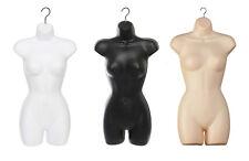Calidad Garantizada Mujer colgante de cuerpo completo maniquí de forma Torso Pantalla