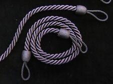 2 Corde embrasses de rideaux - violet foncé / bleu - mince slinky cordon cravate