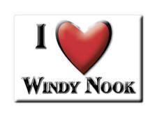 Souvenir UK-England fridge magnet United kingdom I Love Windy nook (Durham)
