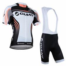Kja442 Mens Team Road Cycling mountain Short Sleeve Jersey and bib Shorts Set