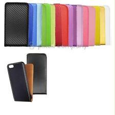 Funda protectora, cuero-imitacion abatible móvil plegable bolsa para LG diferentes modelo