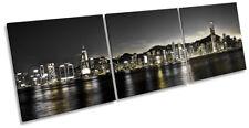 Victoria Harbour Hong Kong Framed CANVAS PRINT Triple Wall Art