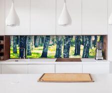 Aufkleber Küchenrückwand Birke Wald Baum Folie Fliesen Möbel Spritzschutz 22A327