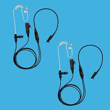 2x Security Acoustic Ear Tube Earpiece w/PTT for Motorola HT-1250 GP328
