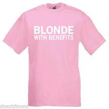 Blonde avec prestations Adultes Homme T shirt 12 Couleurs Taille S - 3XL