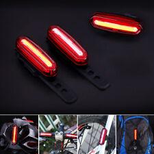 Recargable USB LED Bicicleta Bici Ciclismo Luz Trasera De Cola 6 /4 Modalidades