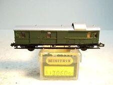MES-23673   Minitrix 3060 SpN Gepäckwagen OVP,sehr guter Zustand