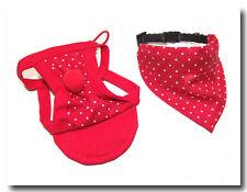 Hunde Mütze - CAP CAPE - SET cappy + Halstuch * RED DOTS * dogszone.de