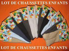 LOT DE 6 A 12 PAIRES DE CHAUSSETTES GARCONS - COTON - du 19 au 38 au choix