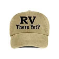 RV THERE YET? VINYL PRINT Camping Humor Baseball Style Cap Hat