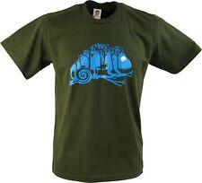 Fun T-Shirt `Chameleon bei Nacht`