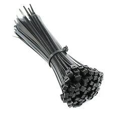 450 Mm x 4.8 mm Cable de Nylon Negro Cierre De Cremallera Lazos para cables y cables + GRATIS Lazos