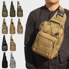 Mens Military Backpack Bike Motorcycle Hiking Messenger Shoulder Sling Chest Bag