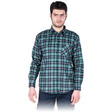 Arbeitshemd Flanellhemd Hemd Holzfällerhemd Blau Grün Karo Gr. M - XXXL NEU OVP