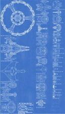 159070 Blue - Star Wars Star Trek Main Fleet Ch Wall Print Poster CA