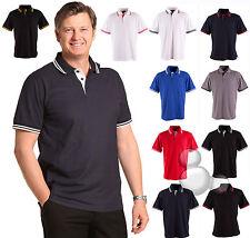 Mens Polo Size S M L XL 2XL 3XL 4XL 5XL Contrast Work Golf Shirt Top!