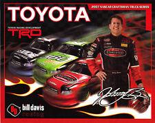 "2007 JOHNNY BENSON ""TOYOTA 4 TRUCKS ON CARD"" #23 NASCAR TRUCK POSTCARD"