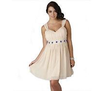 Bnwt embelli robe de bal glace fleurs crème taille uk 26 28 30