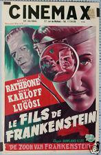 AFFICHE CINEMA FILM LE FILS DE FRANKENSTEIN BORIS KARLOFF CIRCA 1939