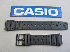 Genuine Casio TS-100 SDB-500W TRI-10W black resin rubber watch band strap