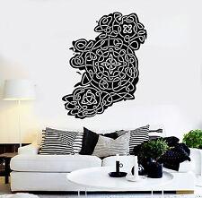 Vinyl Wall Decal Ireland Map Irish Pattern Irishman Decor Stickers Murals ig4676