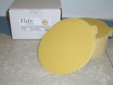 "6"" PSA Tab Discs 220 Grit Sticky Sand Paper Discs  100 Pack Premium Gold"