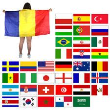 Sonia Originelli Fan Poncho Umhang Flagge Fußball WM Länder Cape Neu