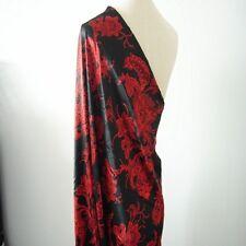 Chinese Satin Silk Floral Fabric Cloth Cheongsam Dress Costume Upholstery DIY