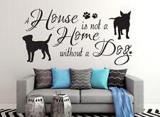 A House is not.. - Hund Aufkleber Wohnzimmer Wandspruch Wandaufkleber WandTattoo